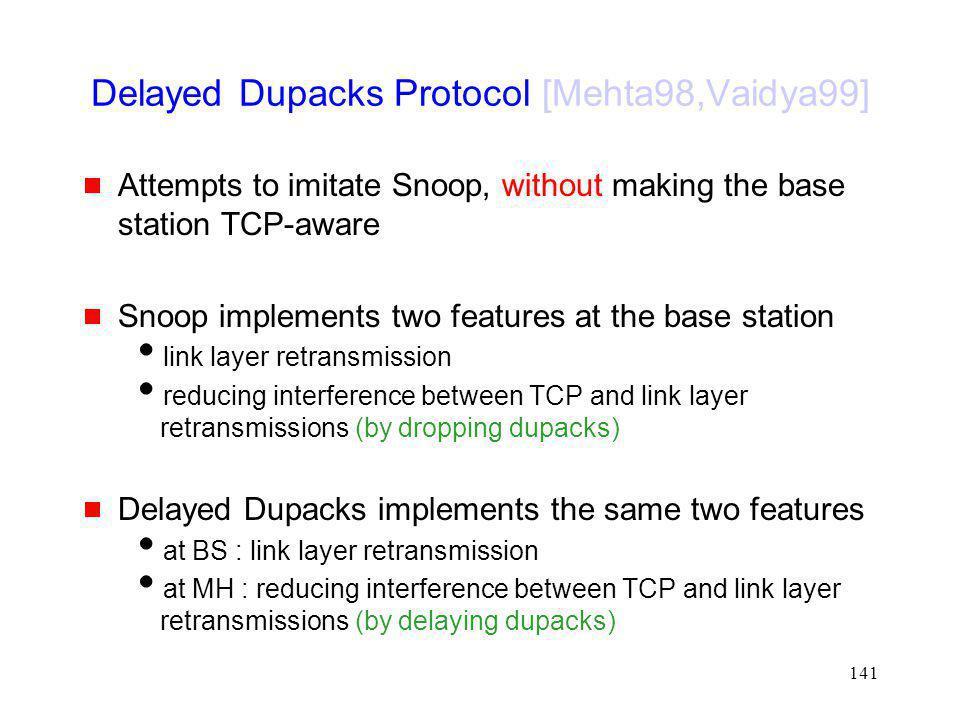 Delayed Dupacks Protocol [Mehta98,Vaidya99]